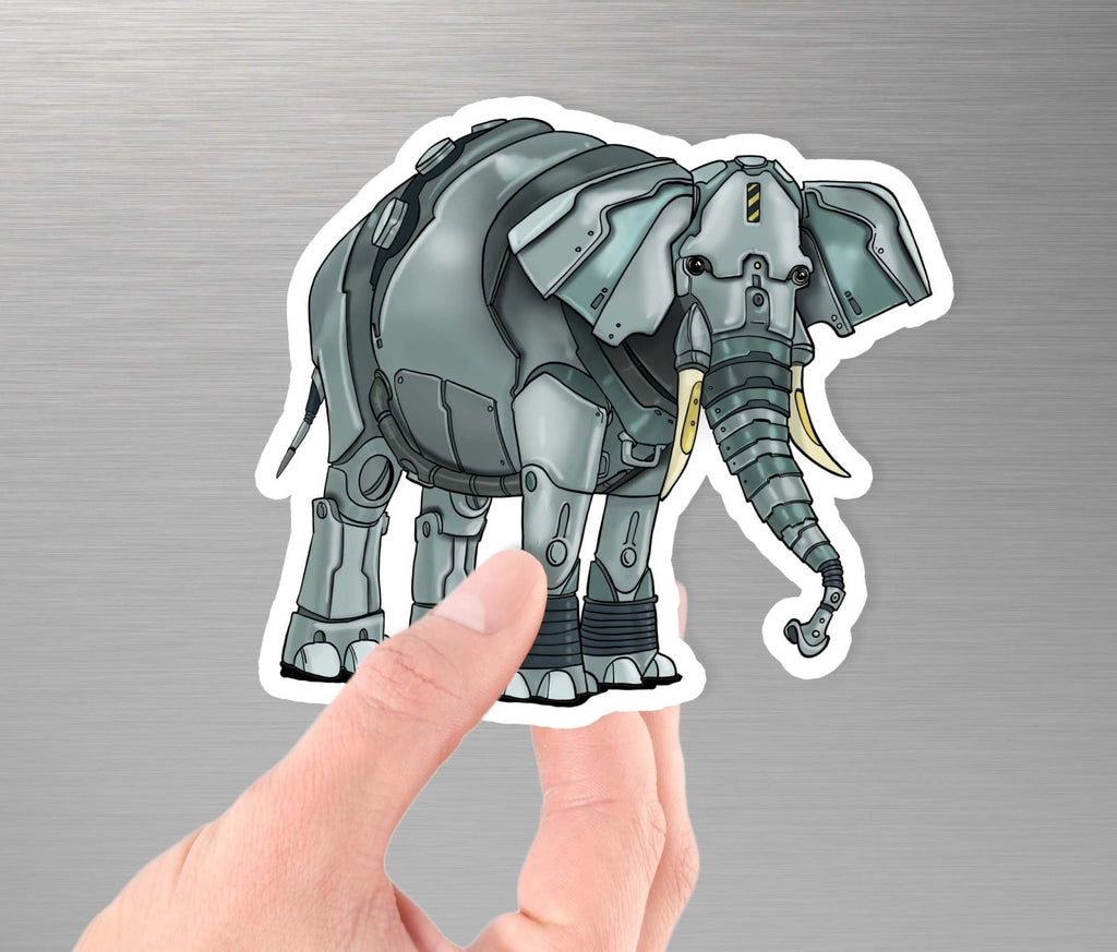 """Elephant Robot"" - 3.5"" Premium Vinyl Sticker - Dan Pearce Creative Shop"