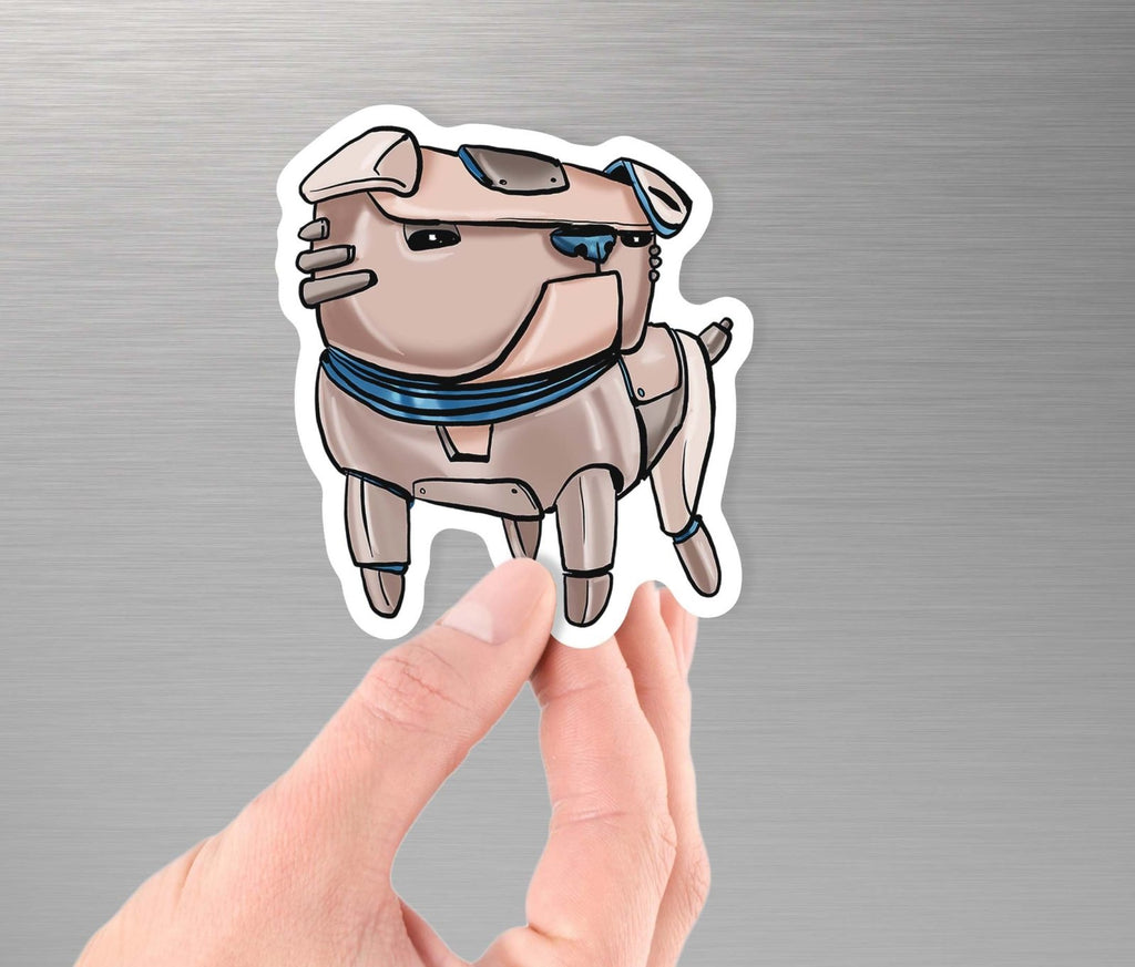 """English Bulldog Robot"" - 3.5"" Premium Vinyl Sticker - Dan Pearce Creative Shop"