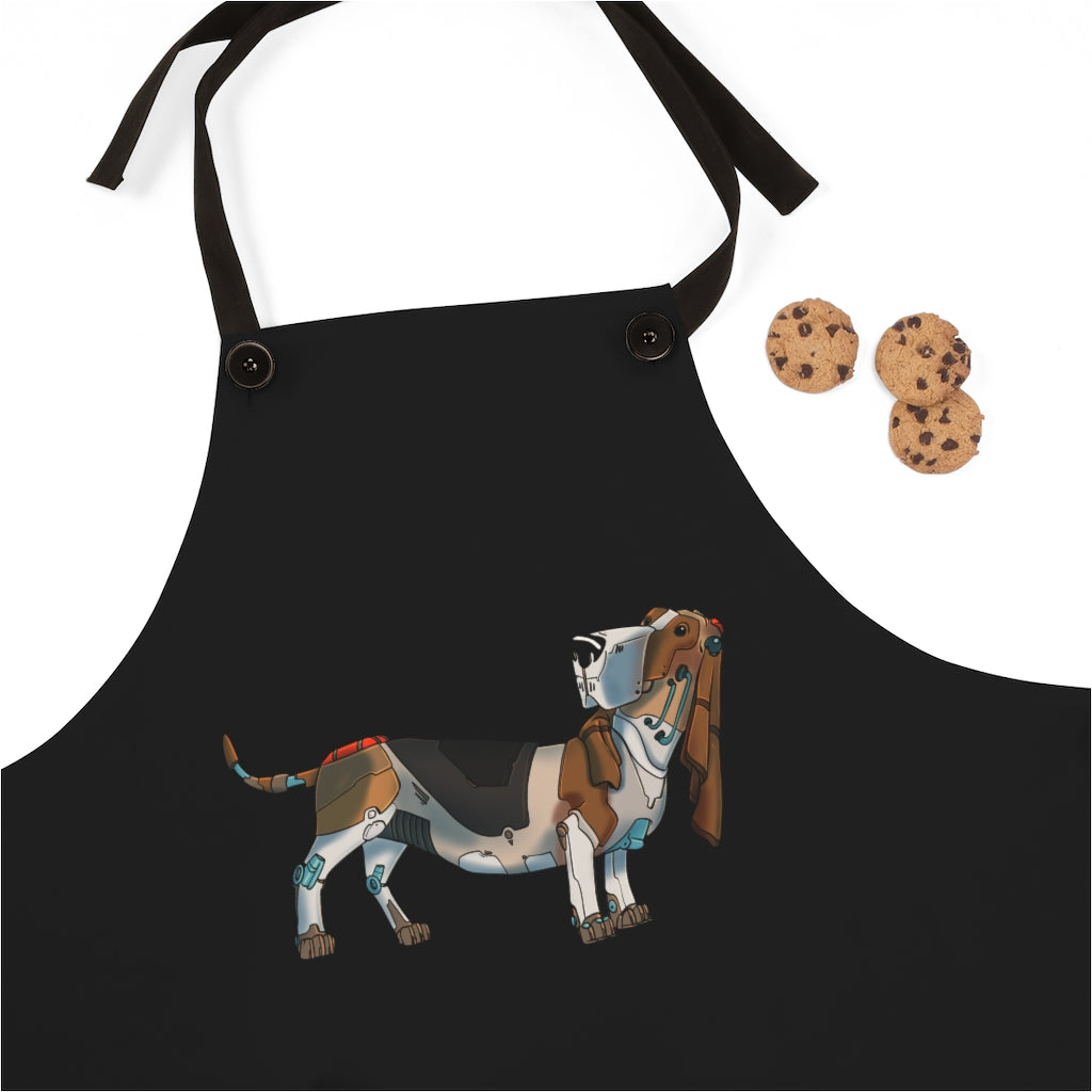 """Basset Hound Robot"" Cooking Apron Featuring Art"