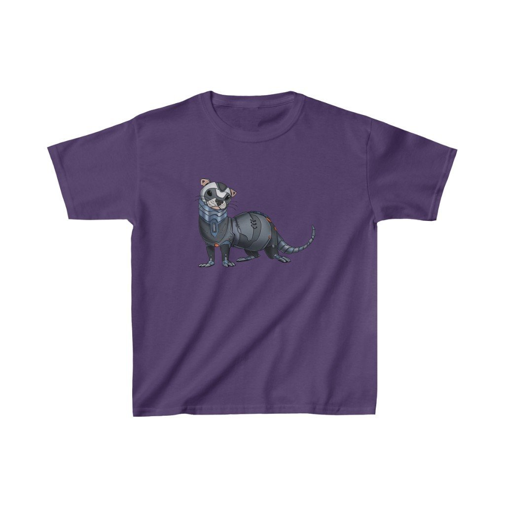 """Ferret Robot"" Kids Heavy Cotton™ T-Shirt (Youth) - Dan Pearce Creative Shop"