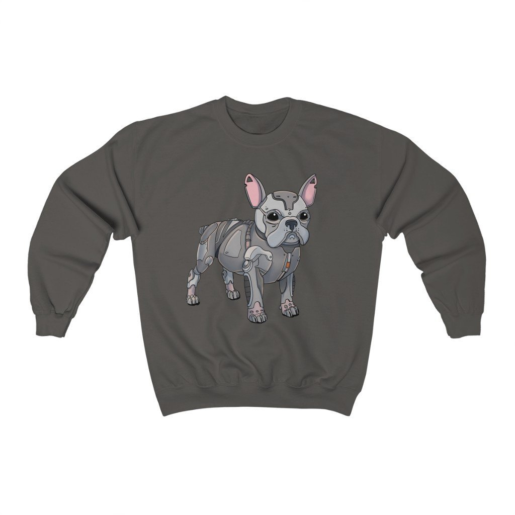 """French Bulldog Robot"" Crewneck Premium Sweatshirt - Dan Pearce Creative Shop"