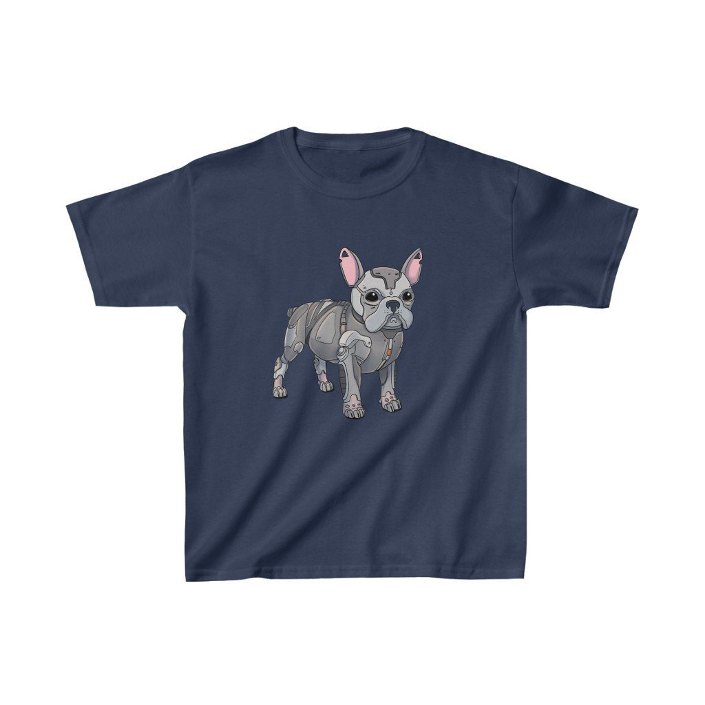 """French Bulldog Robot"" Kids Heavy Cotton™ T-Shirt (Youth) - Dan Pearce Creative Shop"