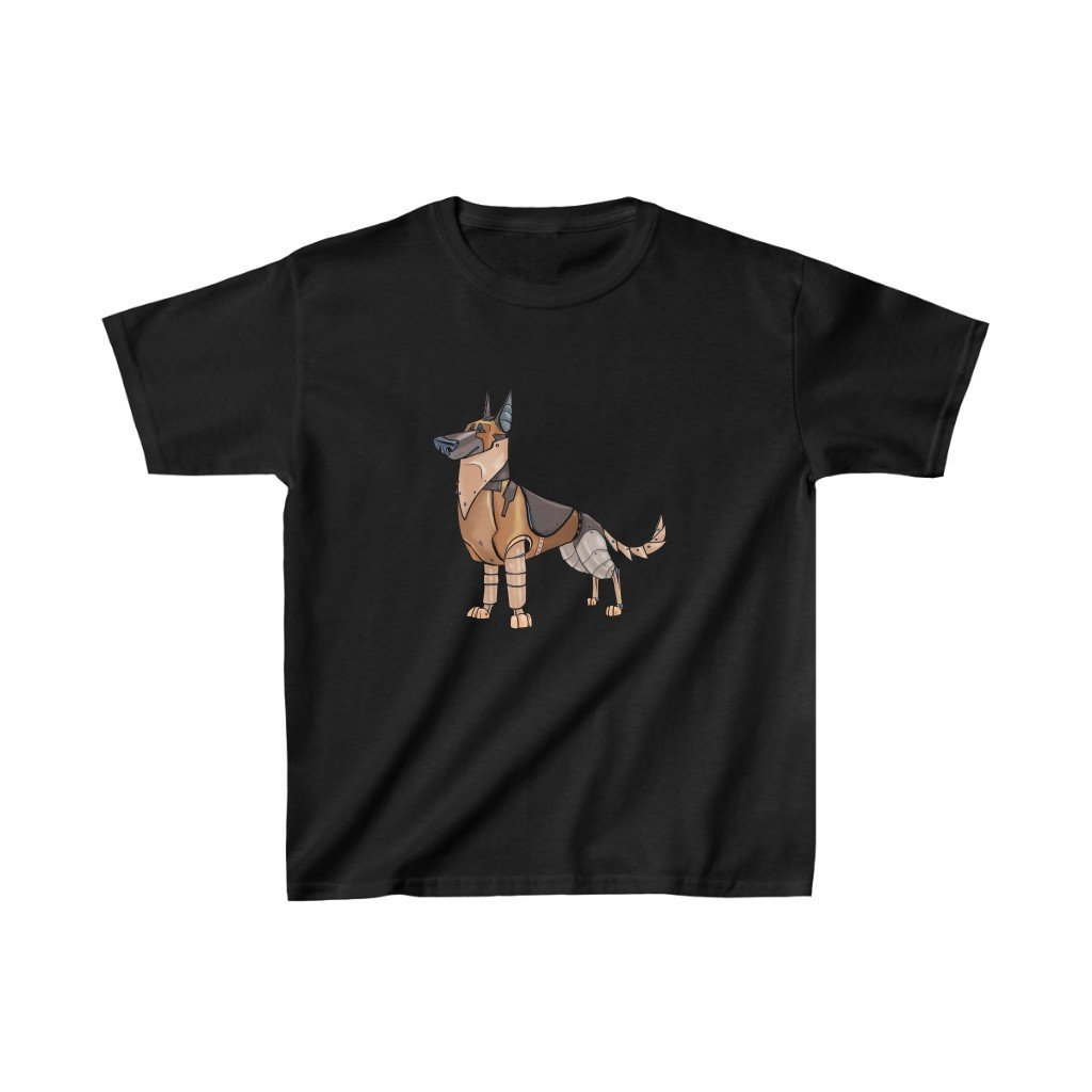 """German Shepherd Dog Robot"" Kids Heavy Cotton™ T-Shirt (Youth) - Dan Pearce Creative Shop"