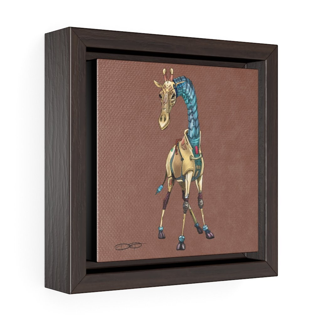 """Giraffe Robot"" Art (Square) Framed Premium Gallery Wrap Canvas - Dan Pearce Creative Shop"