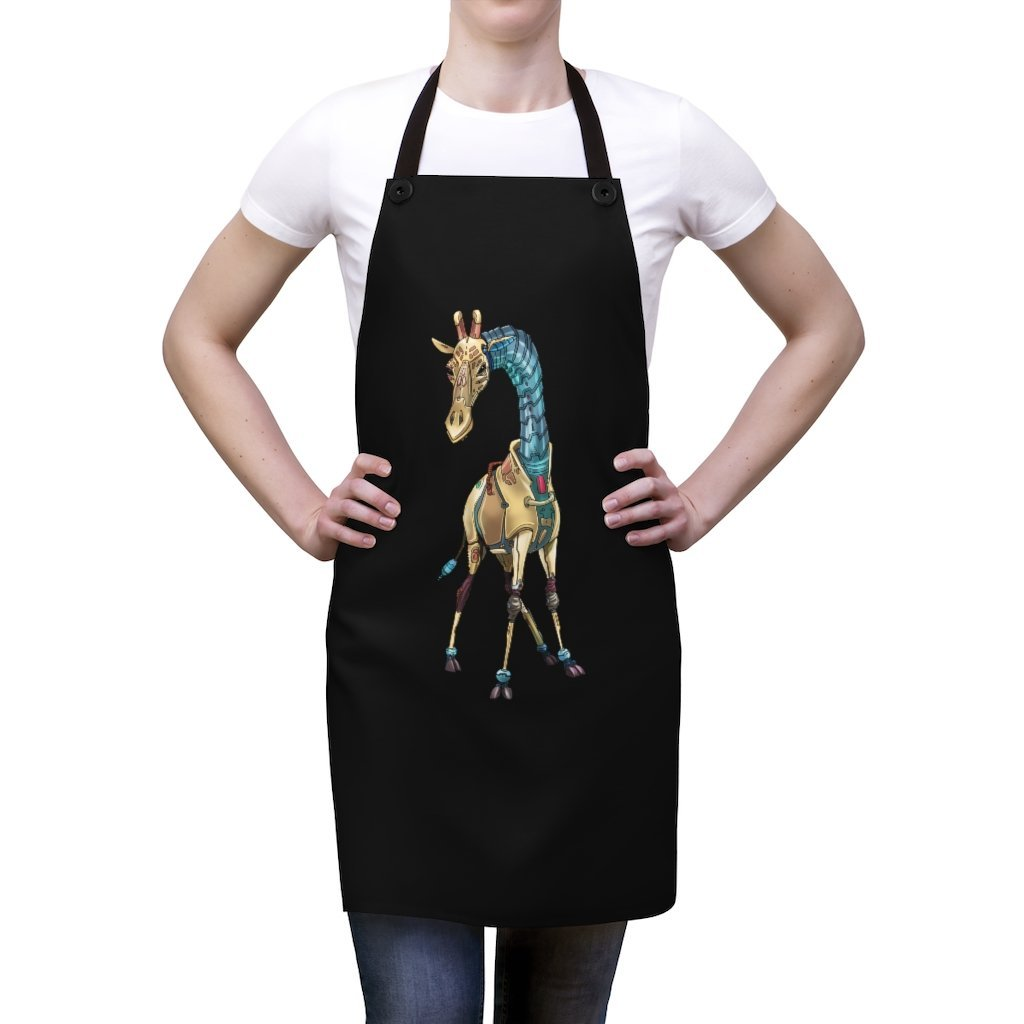"""Giraffe Robot"" Cooking Apron Featuring Art by Dan Pearce - Dan Pearce Creative Shop"
