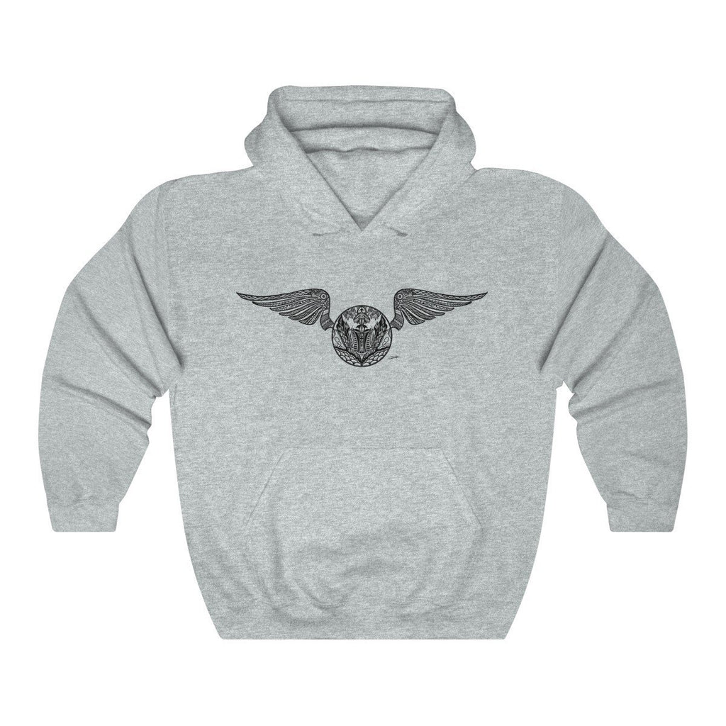 """Golden Snitch"" Mandala Design Premium Hooded Sweatshirt (Hoodie) - Dan Pearce Creative Shop"