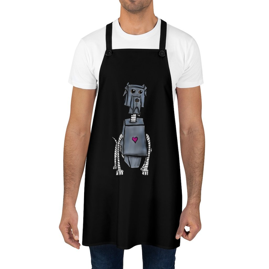 """Great Dane Robot"" Cooking Apron Featuring Art by Dan Pearce - Dan Pearce Creative Shop"
