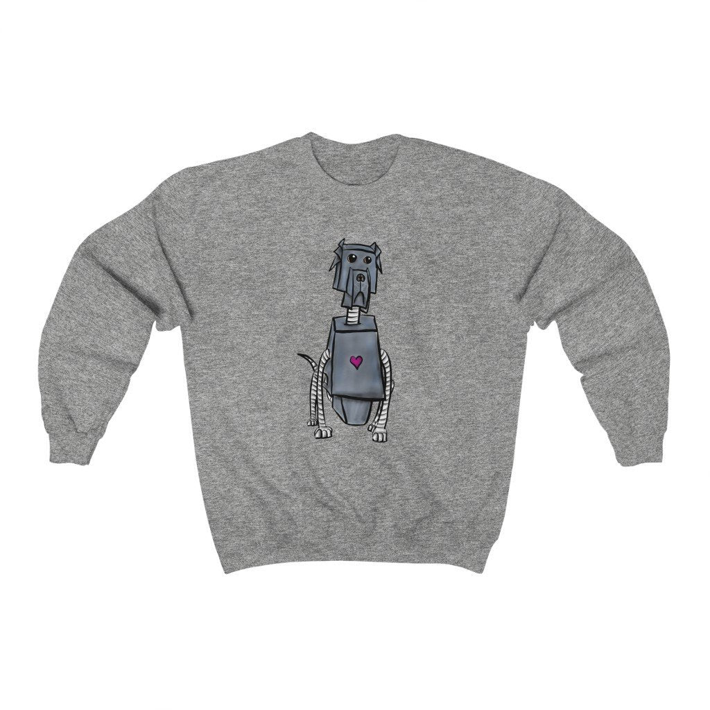 """Great Dane Robot"" Crewneck Premium Sweatshirt - Dan Pearce Creative Shop"