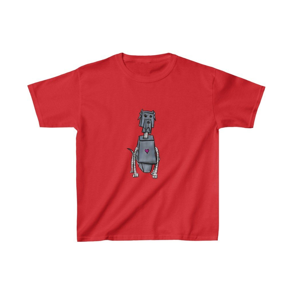"""Great Dane Robot"" Kids Heavy Cotton™ T-Shirt (Youth) - Dan Pearce Creative Shop"