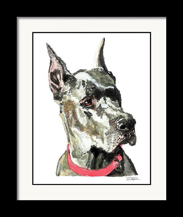 Great Dane Watercolor Fine Art Print - Dan Pearce Creative Shop