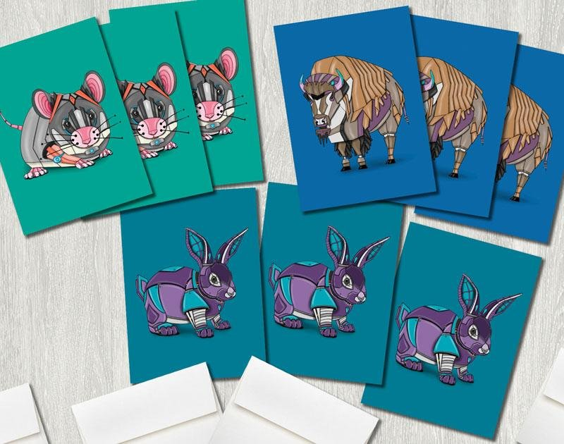 Greeting Card 9-Pack (Premium Pack D) Featuring Art by Dan Pearce - Dan Pearce Creative Shop