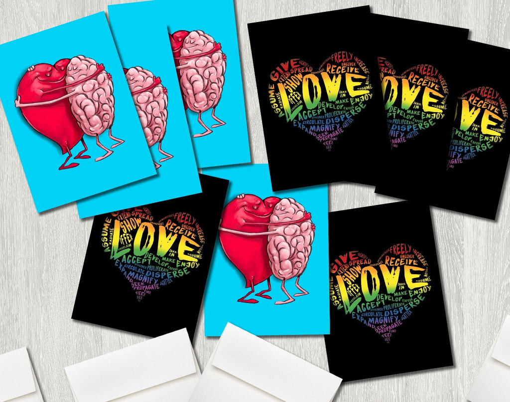 Greeting Card LOVE 9-Pack (Premium Pack H) Featuring Art by Dan Pearce - Dan Pearce Creative Shop
