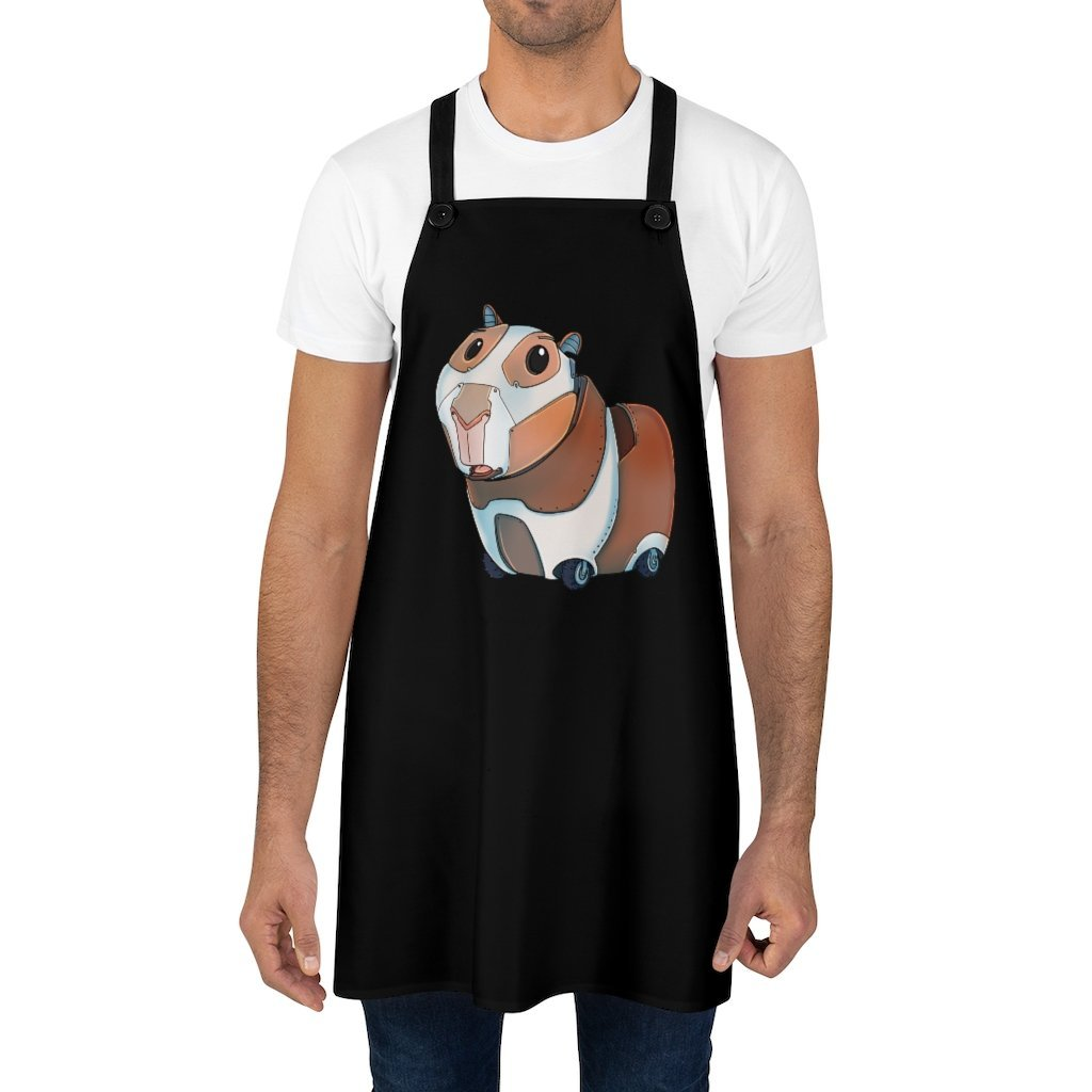 """Guinea Pig Robot"" Cooking Apron Featuring Art by Dan Pearce - Dan Pearce Creative Shop"