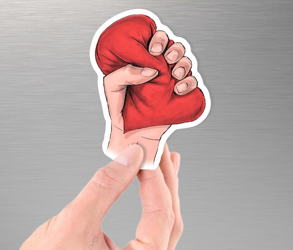 """Heart Crusher"" Art - 3.5"" Vinyl Sticker - Dan Pearce Creative Shop"