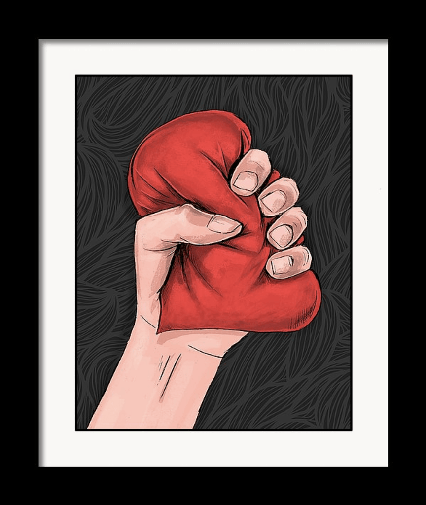 """Heart Crusher"" Art Print by Dan Pearce - Dan Pearce Creative Shop"