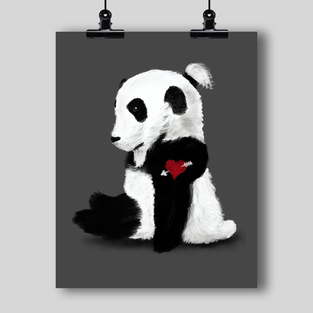 """Hipster Panda"" Art Print - Dan Pearce Creative Shop"