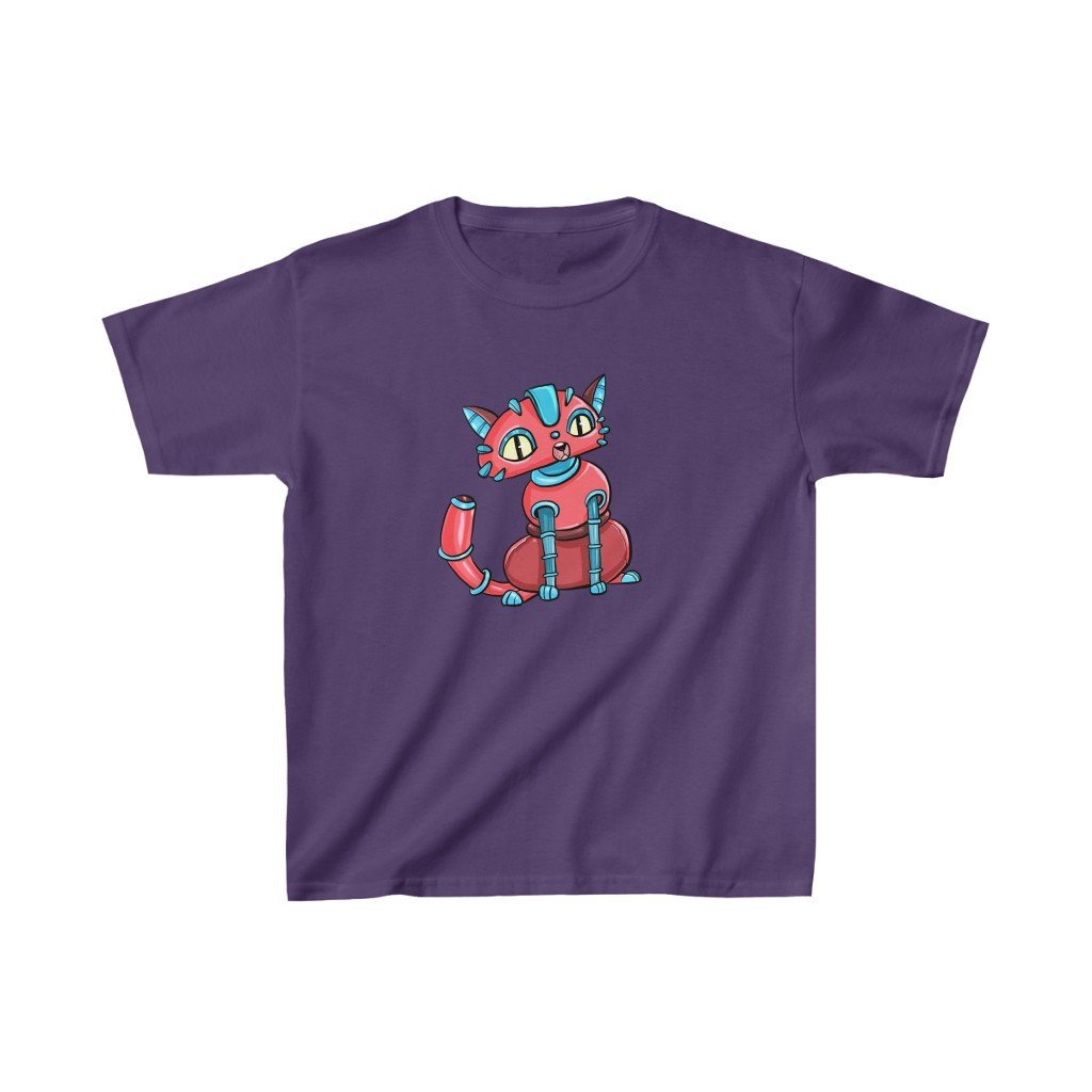 """House Cat Robot"" Kids Heavy Cotton™ T-Shirt (Youth) - Dan Pearce Creative Shop"
