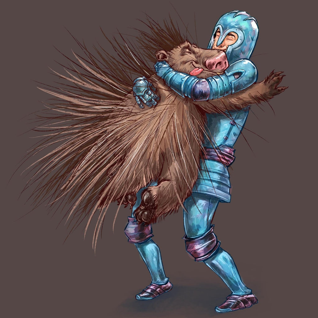 """How to Hug a Porcupine"" Premium T-Shirt Design #1 - Dan Pearce Creative Shop"