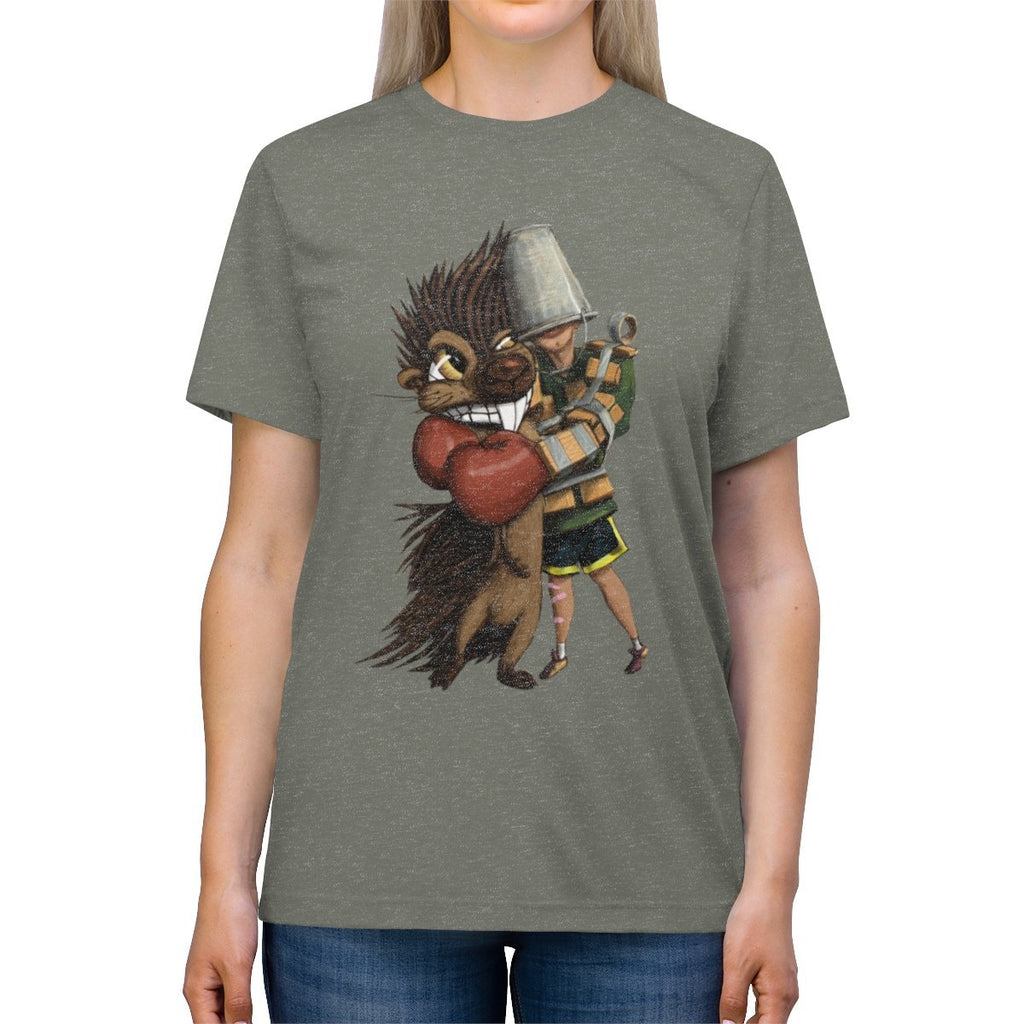 """How to Hug a Porcupine"" Premium T-Shirt Design #6 - Dan Pearce Creative Shop"