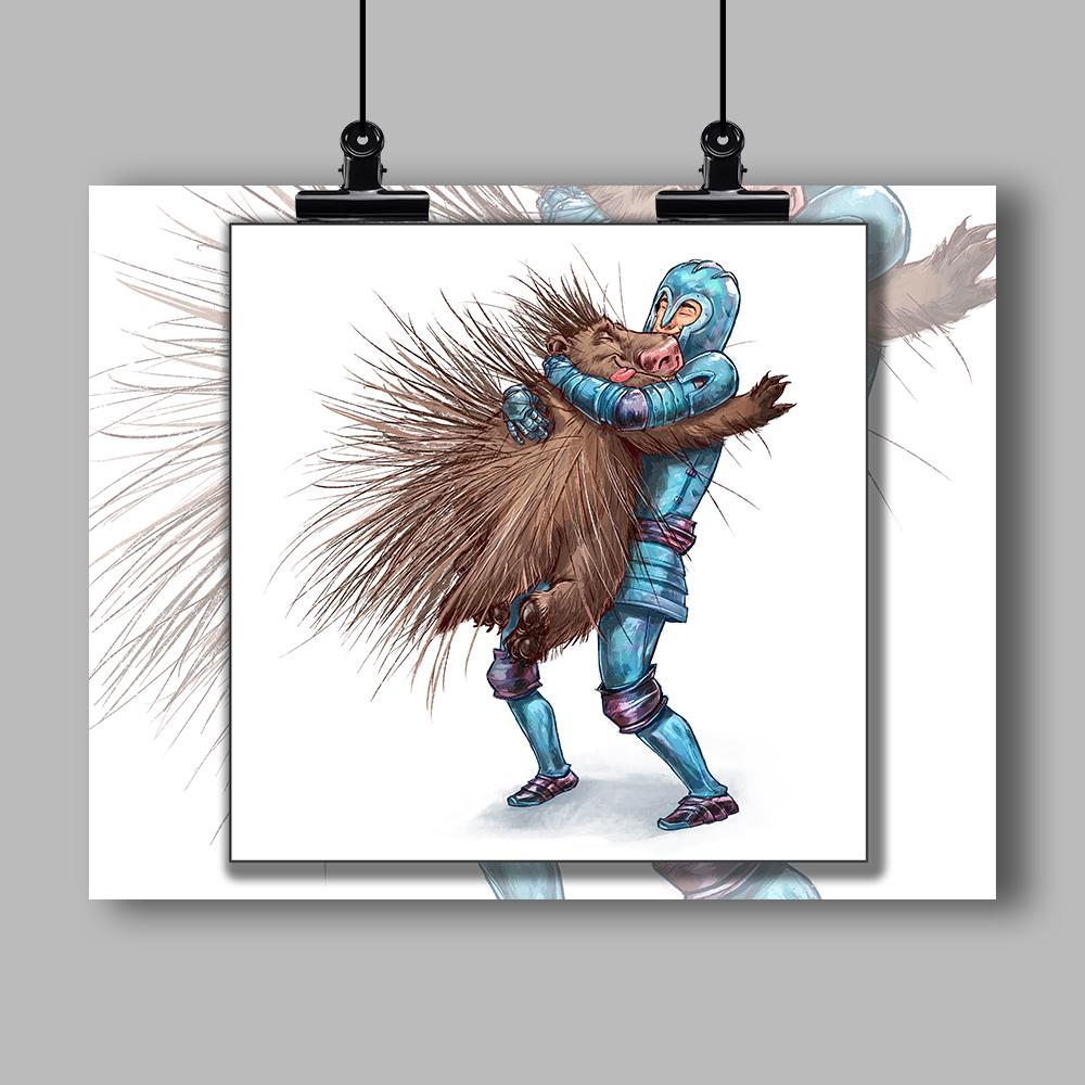 """How to Hug a Porcupine"" Specialty Art Print #1 by Dan Pearce - Dan Pearce Creative Shop"