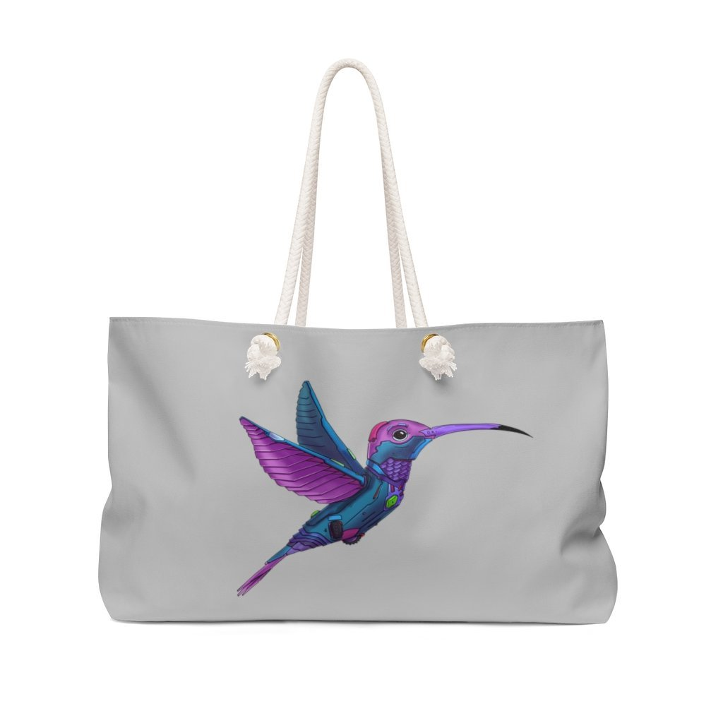 """Hummingbird Robot"" Weekender Bag (Pink Version) - Dan Pearce Creative Shop"