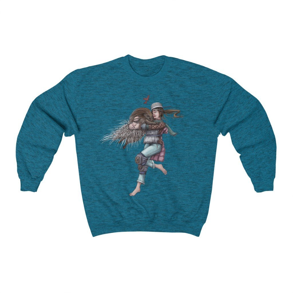 """It's Not Hard to Hug a Porcupine"" Crewneck Premium Sweatshirt #3 - Dan Pearce Creative Shop"