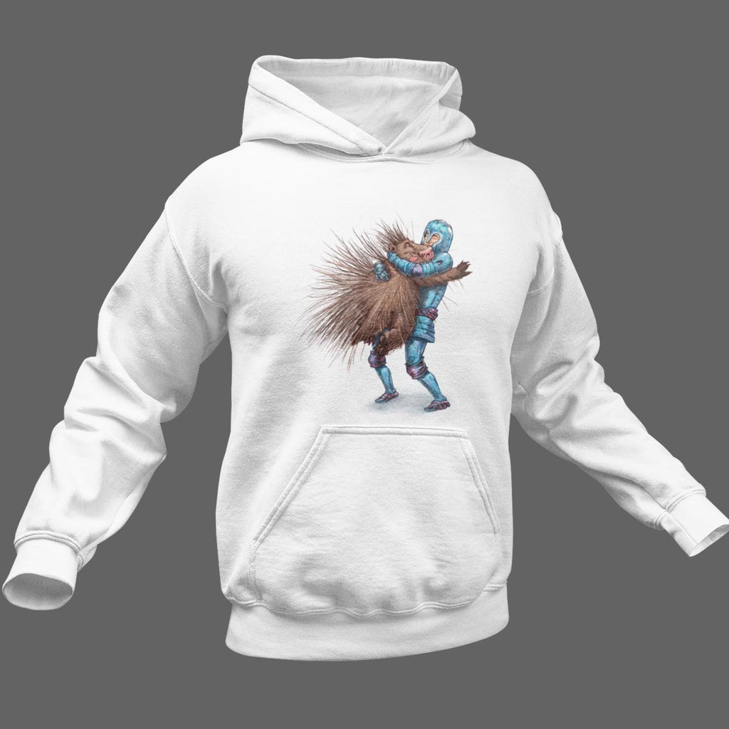 """It's Not Hard to Hug a Porcupine"" Hoodie Premium Hooded Sweatshirt #1 - Dan Pearce Creative Shop"