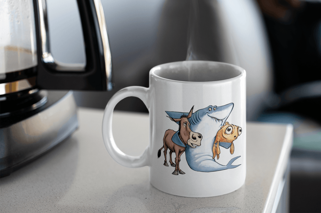 """Keep Your Friends Close"" Poker Coffee Mug - Dan Pearce Creative Shop"