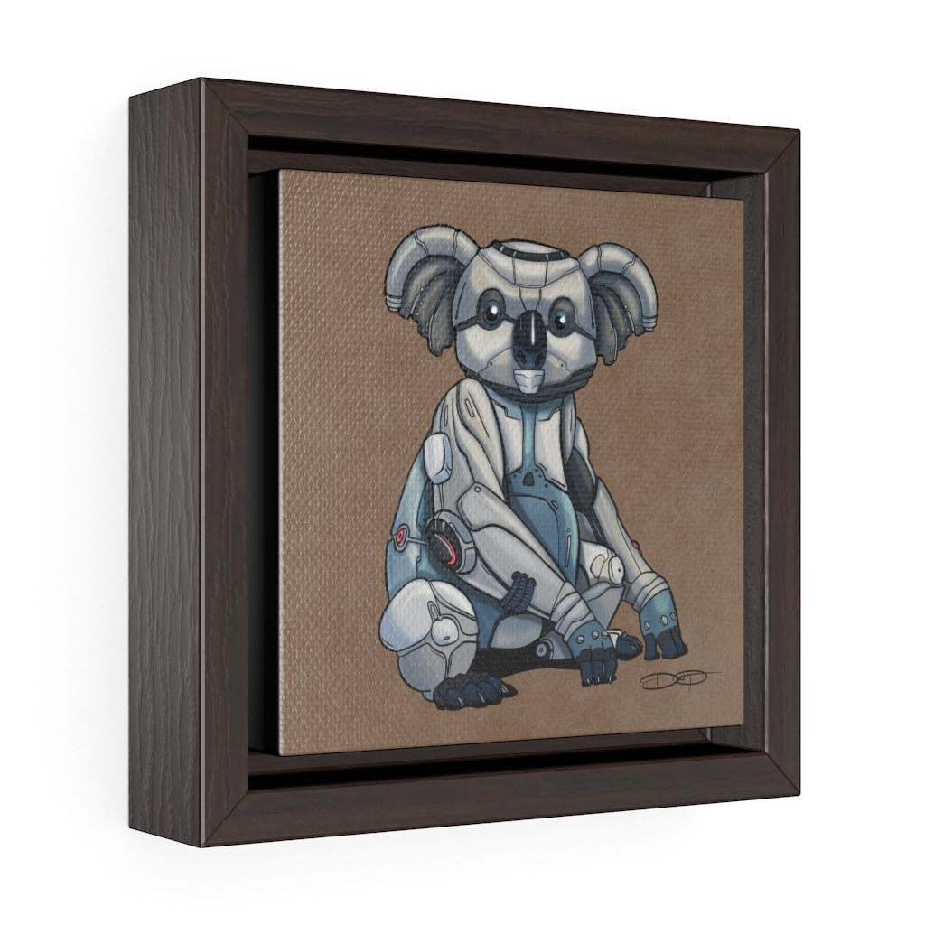 """Koala Robot"" Art (Square) Framed Premium Gallery Wrap Canvas - Dan Pearce Creative Shop"