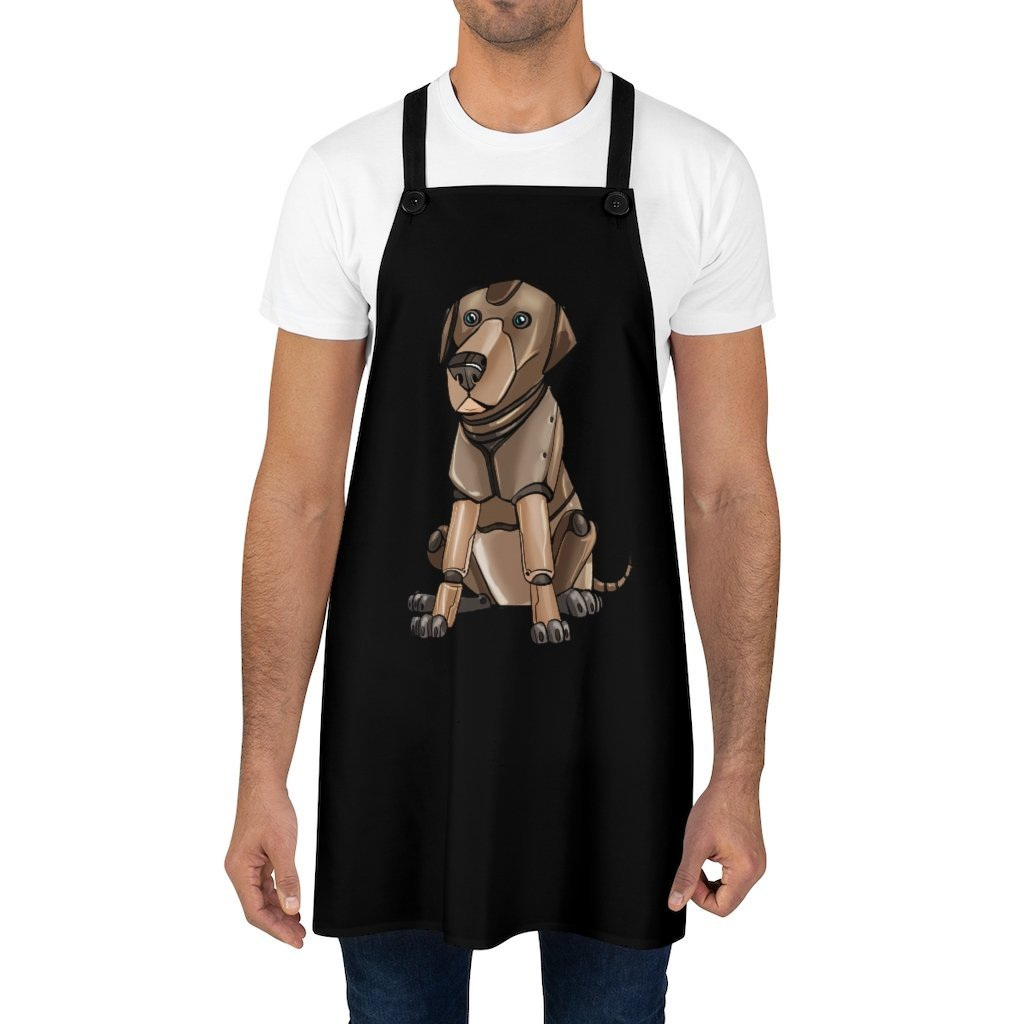 """Labrador Retriever Robot"" Cooking Apron Featuring Art by Dan Pearce - Dan Pearce Creative Shop"