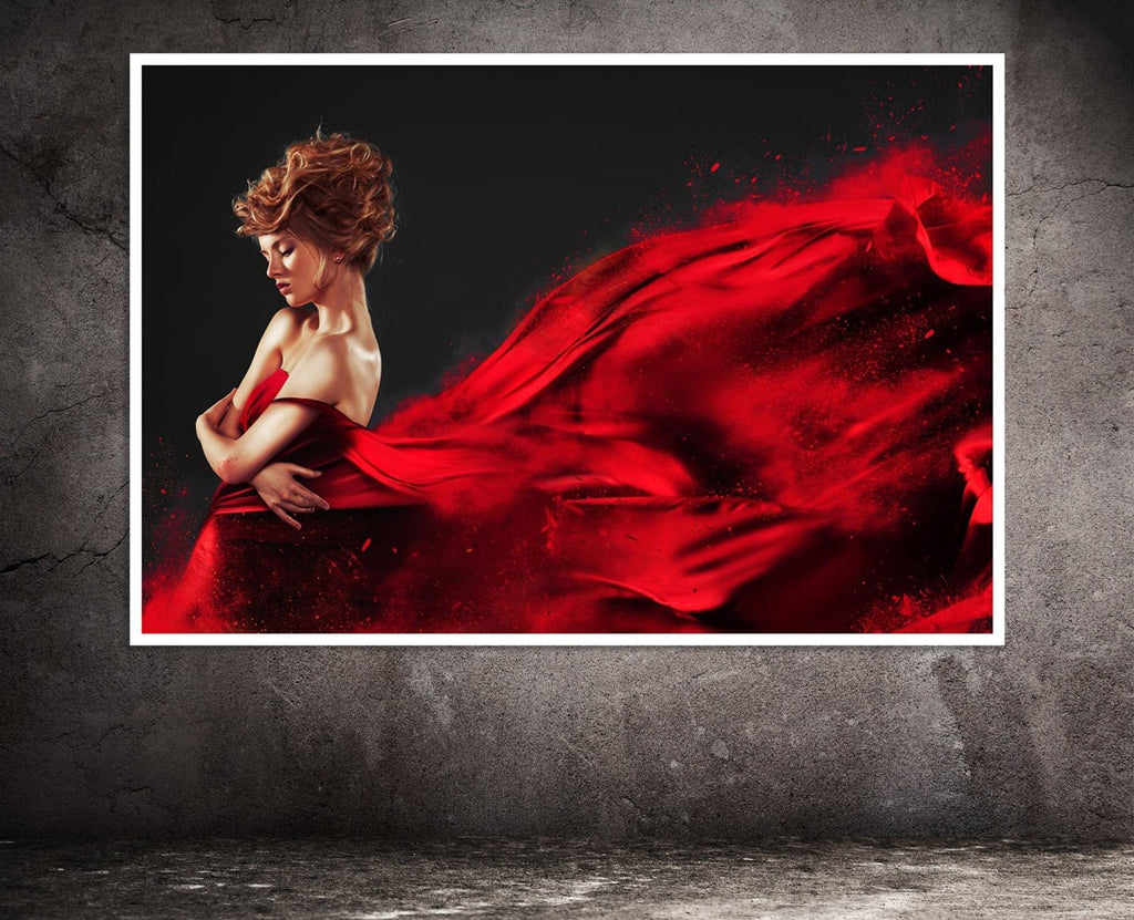 """Lady in Red"" High Quality Poster/Print 36"" x 24"" - Dan Pearce Creative Shop"