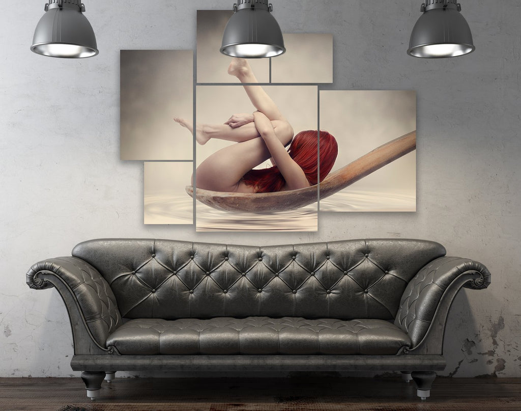 """Lady in the Spoon"" Multi-Canvas Wall Hanging - Dan Pearce Creative Shop"
