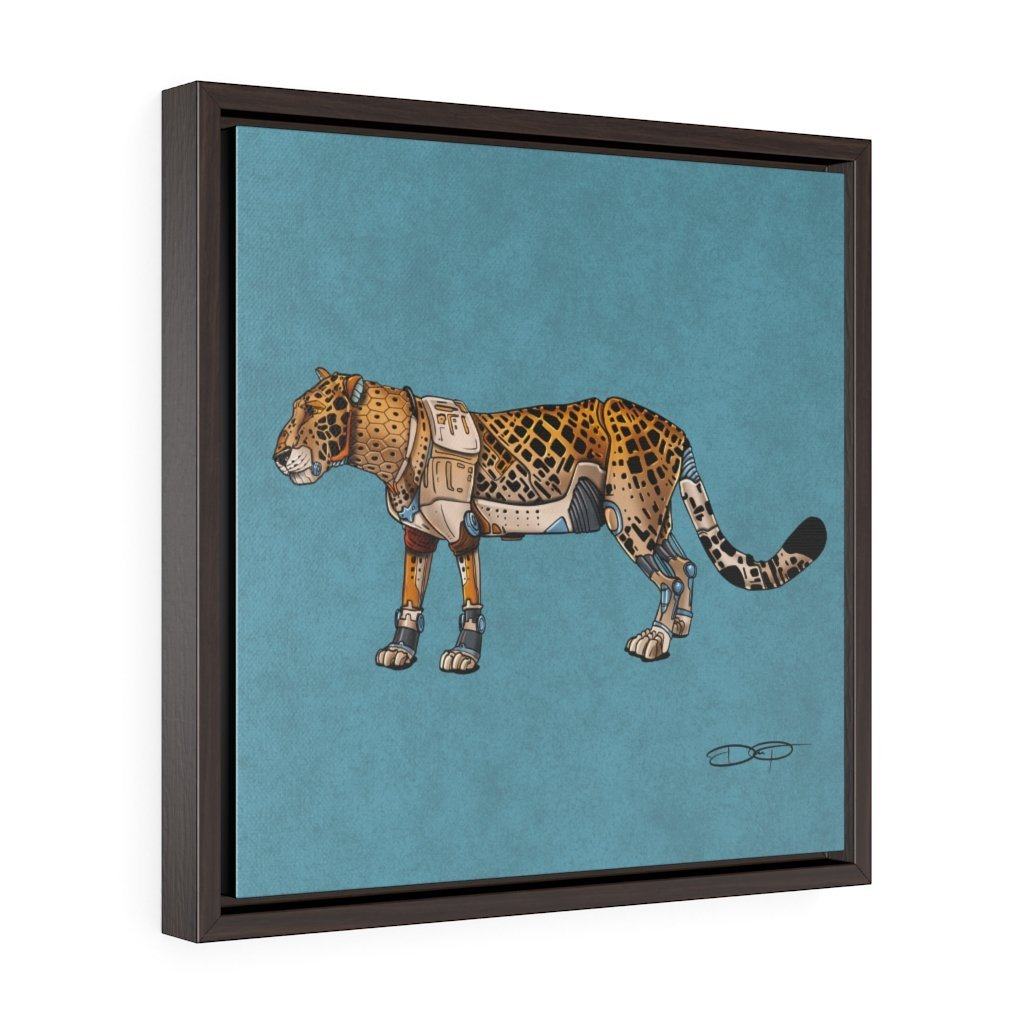 """Leopard Robot"" Art (Square) Framed Premium Gallery Wrap Canvas - Dan Pearce Creative Shop"