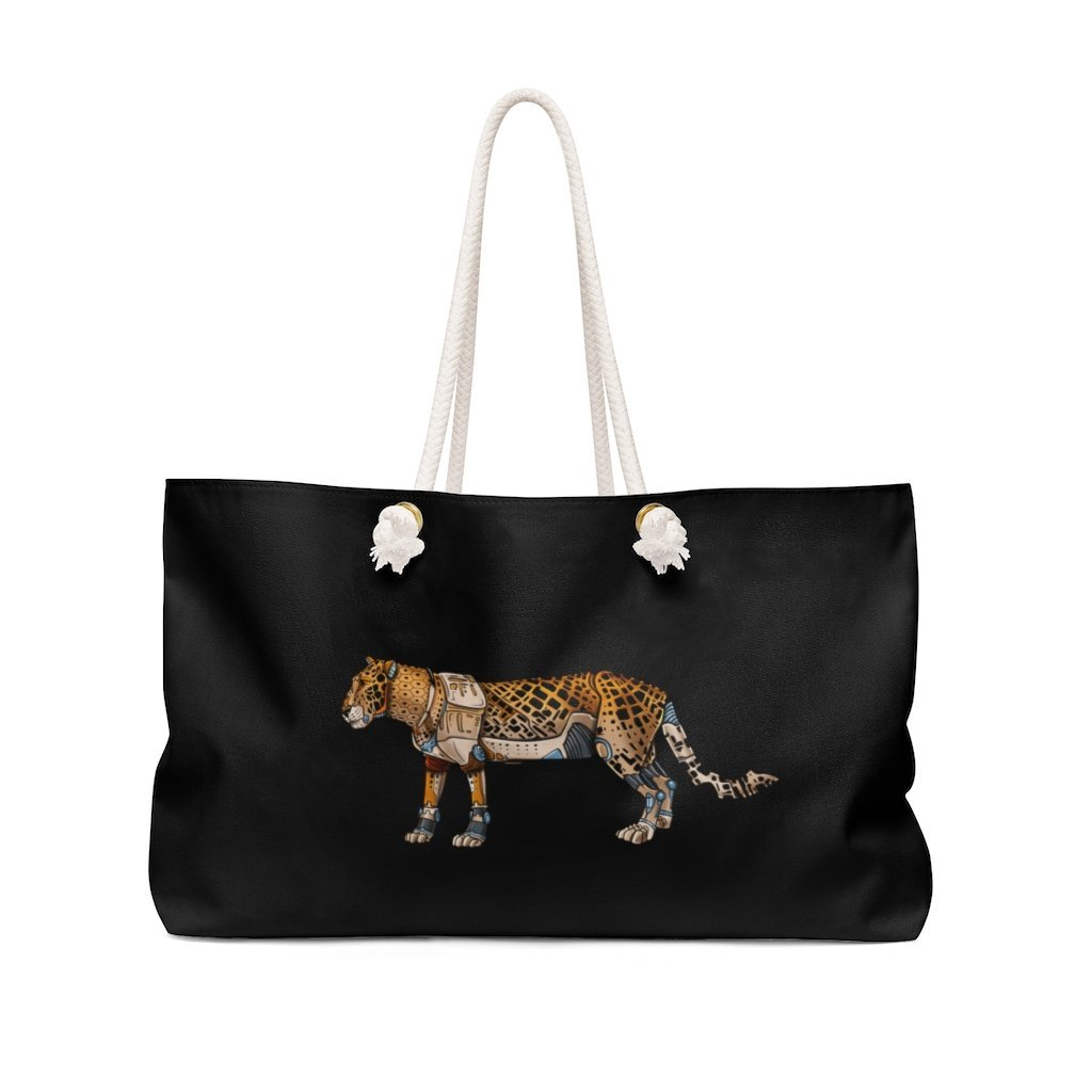 """Leopard Robot"" Weekender Bag (Pink Version) - Dan Pearce Creative Shop"