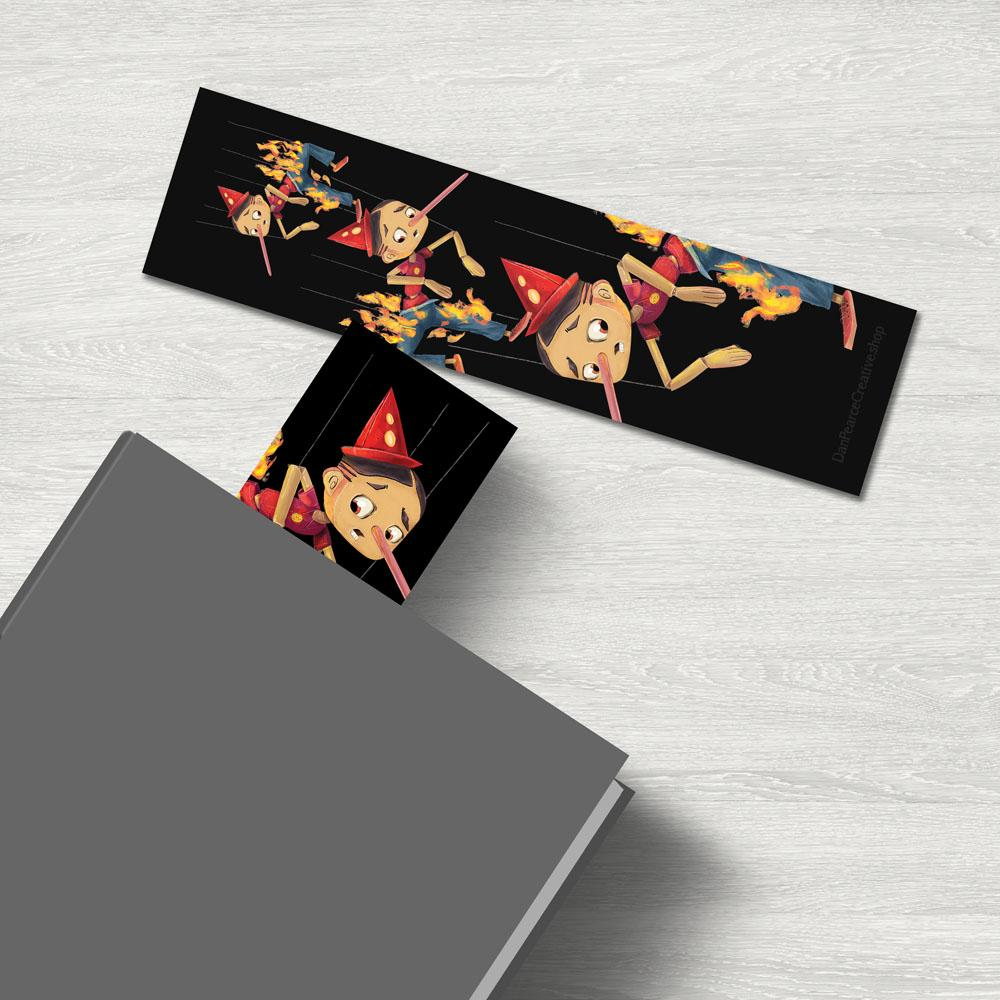 """Liar Liar Pants On Fire"" Premium Bookmark Featuring Art by Dan Pearce - Dan Pearce Creative Shop"