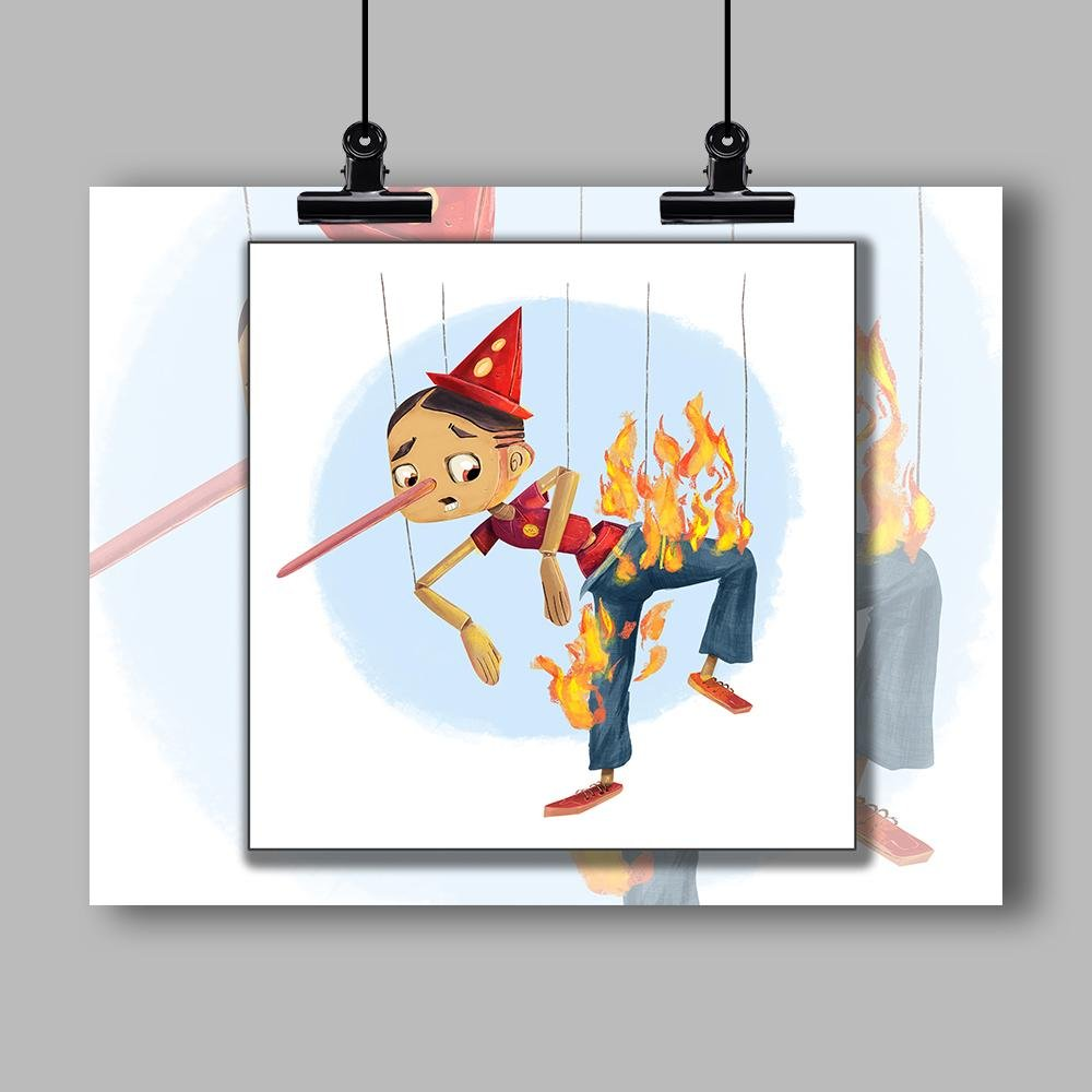 """Liar Liar Pants on Fire"" Specialty Art Print by Dan Pearce - Dan Pearce Creative Shop"