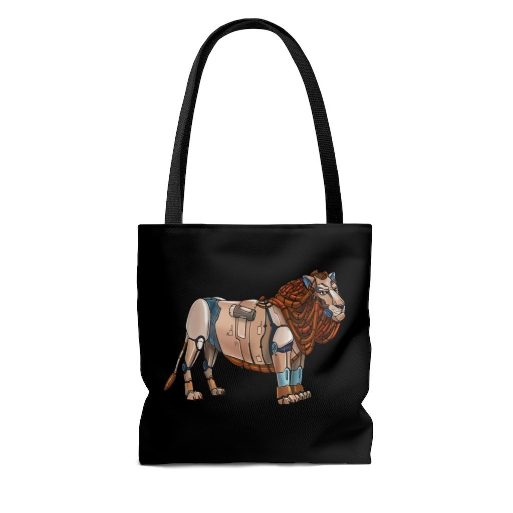 """Lion Robot"" Tote Bag - Dan Pearce Creative Shop"
