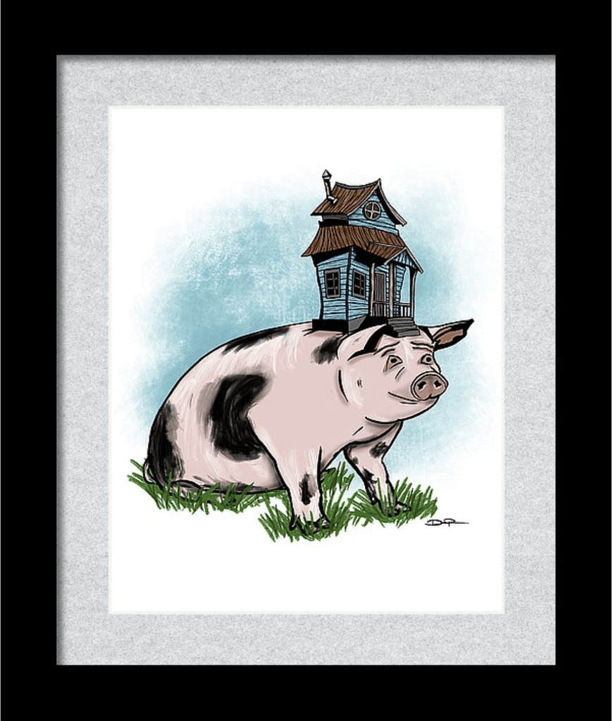 """Living High on the Hog"" Art Print - Dan Pearce Creative Shop"