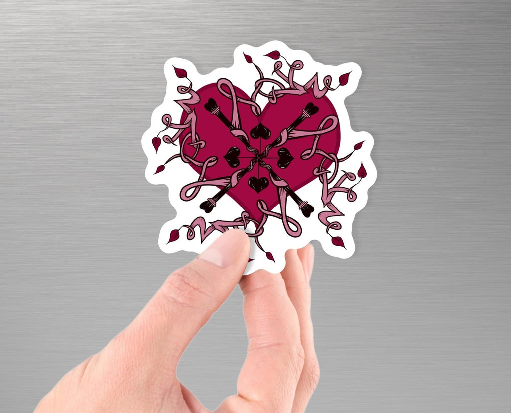 """Love Mandala"" - 3.5"" Vinyl Sticker - Dan Pearce Creative Shop"