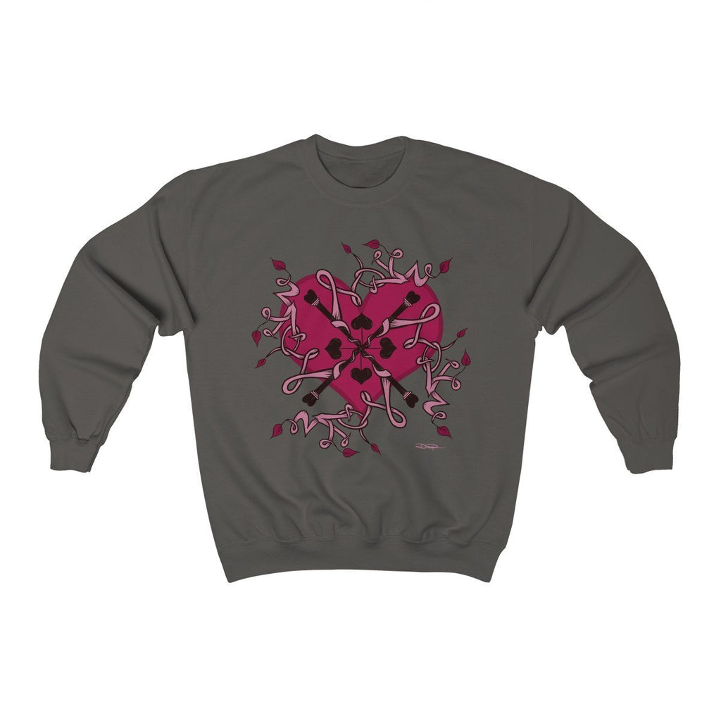"""Love Mandala"" Premium Crewneck Sweatshirt - Dan Pearce Creative Shop"