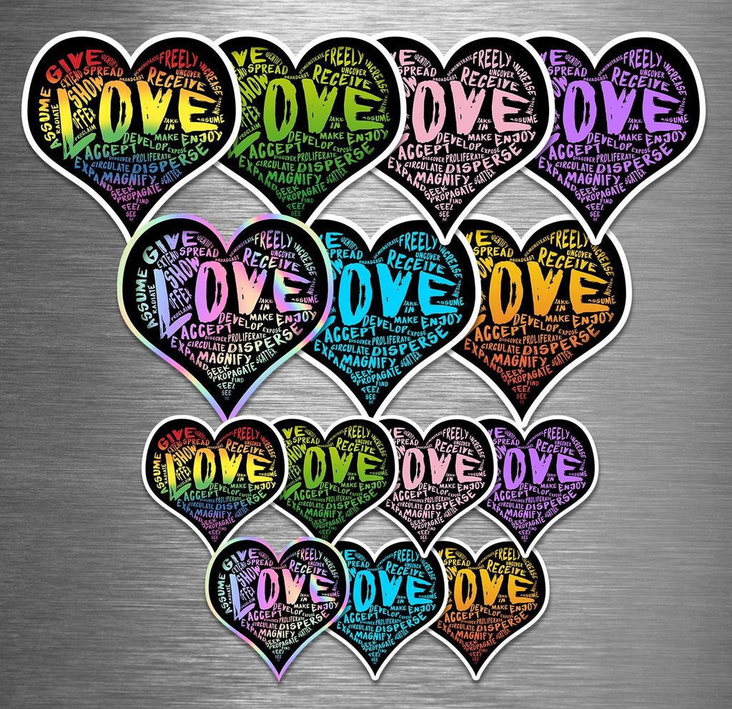 LOVE Vinyl Sticker Combo Packs (Choose One) - Dan Pearce Creative Shop