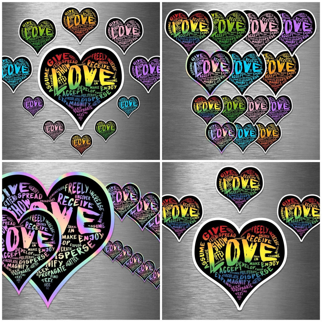 """LOVE"" Vinyl Sticker Combo Packs Pre-Order (6 combos to choose from) - Dan Pearce Creative Shop"