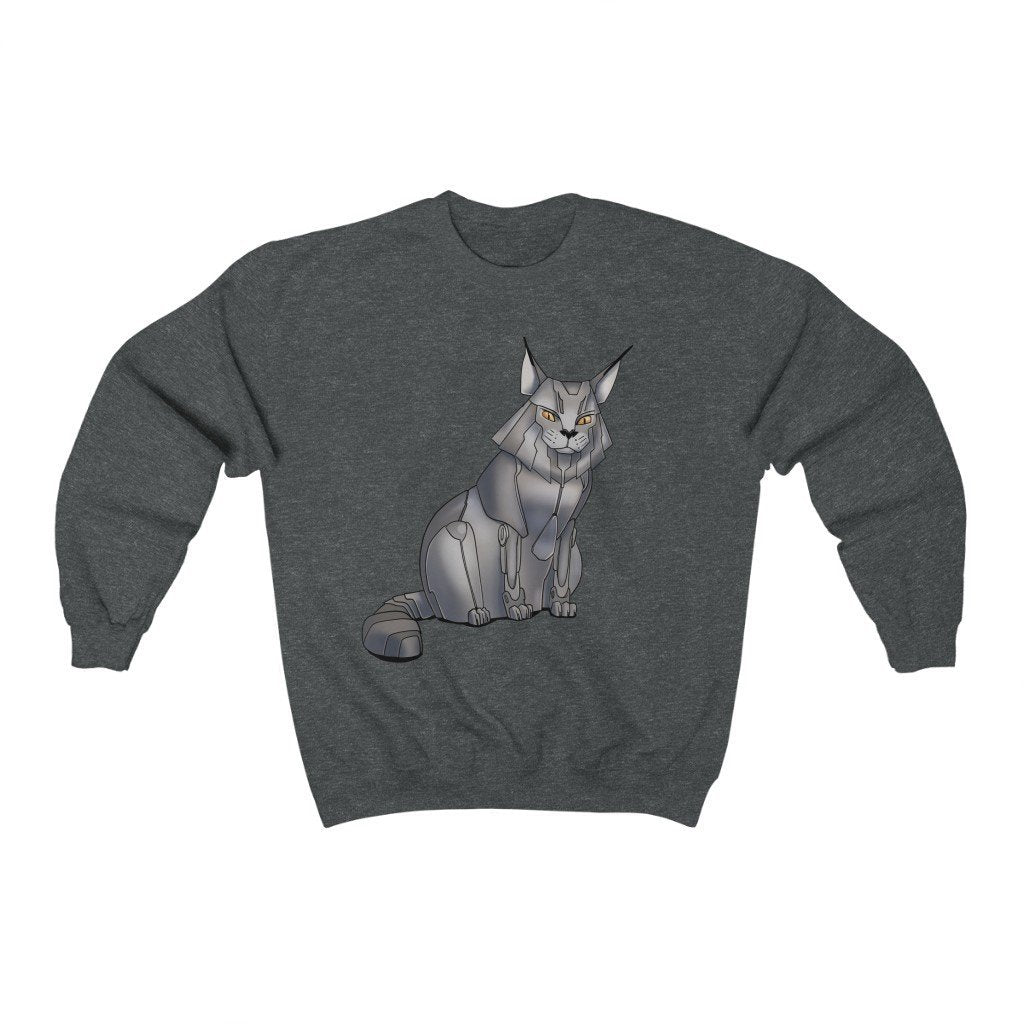"""Maine Coon Cat Robot"" Crewneck Premium Sweatshirt - Dan Pearce Creative Shop"