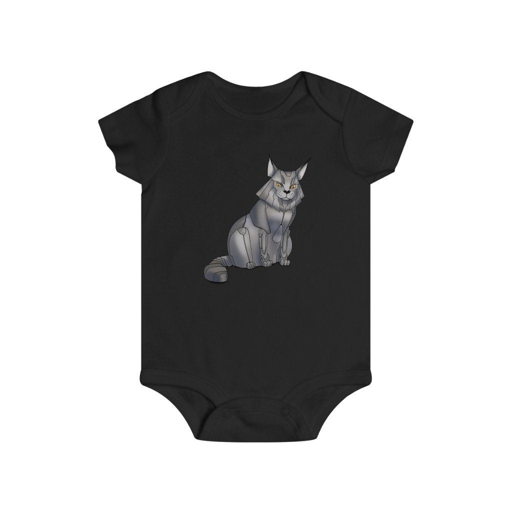 """Maine Coon Cat Robot"" Infant Rip Snap Tee Onesie - Dan Pearce Creative Shop"