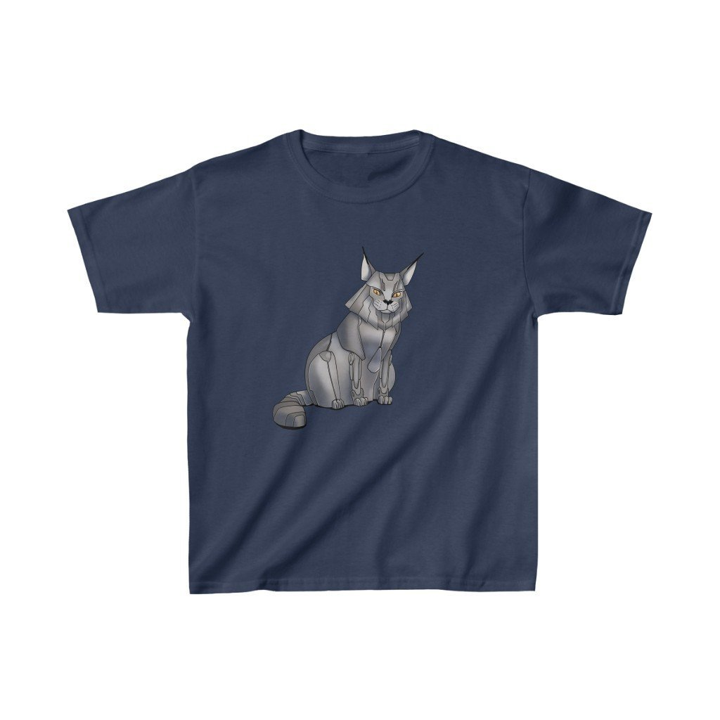 """Maine Coon Cat Robot"" Kids Heavy Cotton™ T-Shirt (Youth) - Dan Pearce Creative Shop"