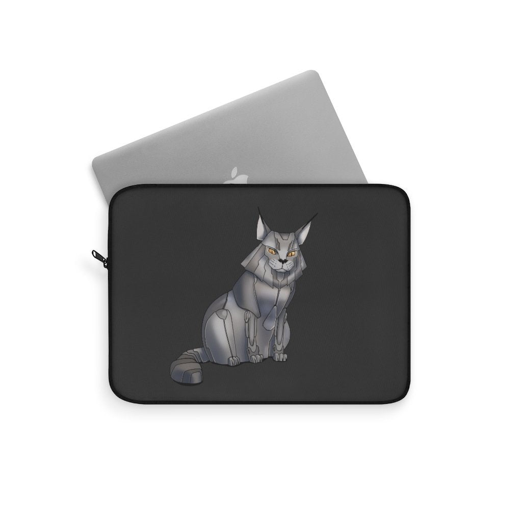 """Maine Coon Cat Robot"" Laptop Sleeve Featuring Artwork by Dan Pearce - Dan Pearce Creative Shop"