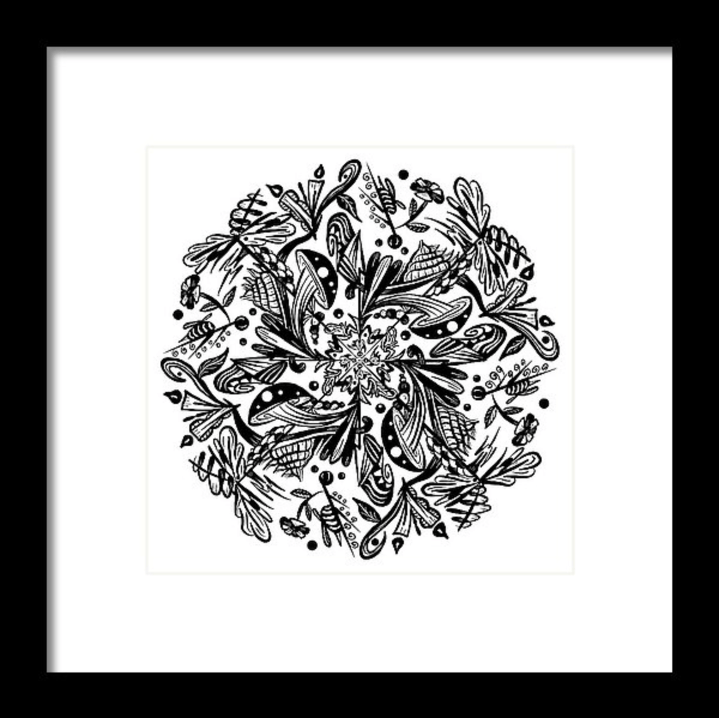 """Mandala"" Art Print #1 by Artist Dan Pearce - Dan Pearce Creative Shop"