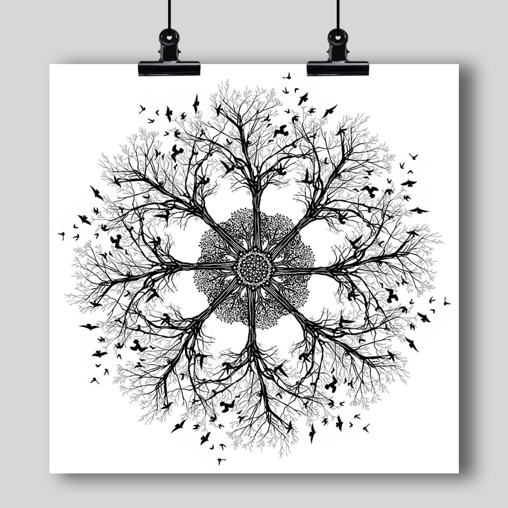 """Mandala"" Art Print #10 by Artist Dan Pearce - Dan Pearce Creative Shop"