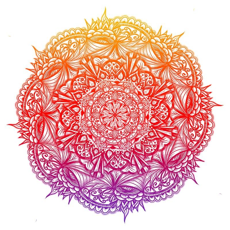 """Mandala"" Art Print #12 by Artist Dan Pearce - Dan Pearce Creative Shop"