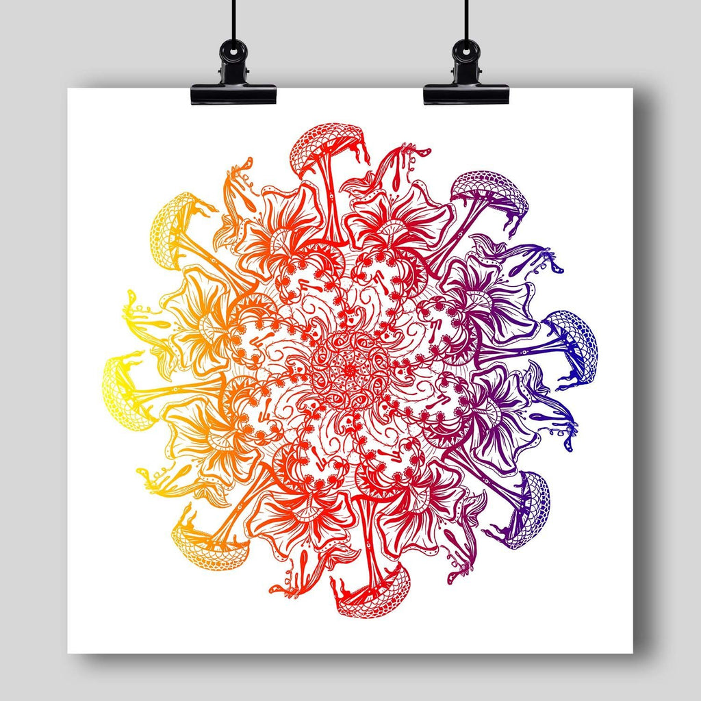 """Mandala"" Art Print #13 by Artists Dan Pearce & Kelsi Mo - Dan Pearce Creative Shop"